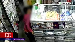 Padre utiliza a menores de edad  para robar en tienda