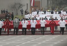 Desfile Militar: así fue la participación de la compañía Pongo el hombro por el Perú por lucha contra la pandemia (VIDEO)