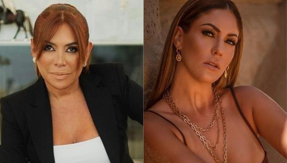 Magaly Medina criticó a Tilsa Lozano por lucir excesivamente anillo de compromiso. (Foto: @magalymedinav/@tilsa_lozano)