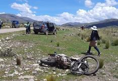 Joven motociclista muere en la carretera Nuñoa - Ticuyo