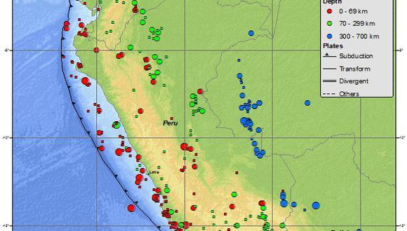 IGP registró 189 sismos en el Perú en lo que va del año