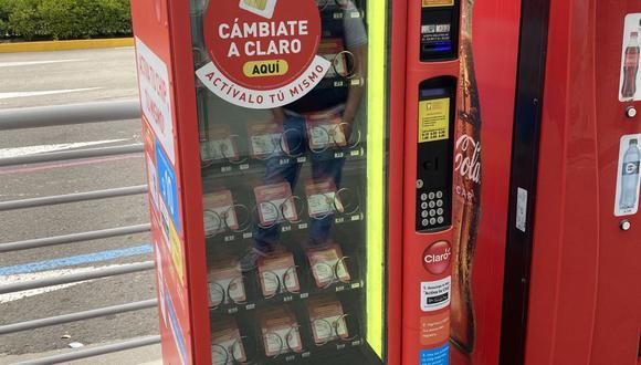 Máquina expendedora de chips. (Foto: Claro)