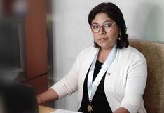 """Betssy Chávez de Perú Libre: """"Lo que queda es un llamado a la unidad"""""""
