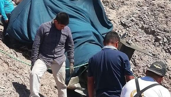 Caída de helicóptero en Moquegua deja dos oficiales heridos