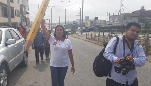 Zaira Arias, virtual congresista por Perú Libre. (Foto: Facebook Zaira Arias)