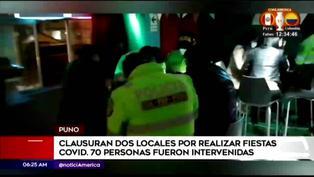 Fiesta clandestina resultó con 70 personas detenidas en Puno