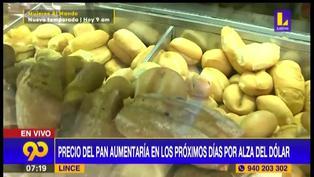Precio del pan aumentaría en los próximos días por alza de dólar (VIDEO)
