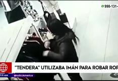 Independencia: ladrona utilizaba imán para robar ropa