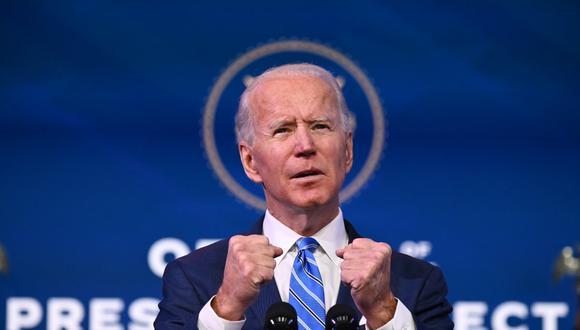 Joe Biden ordenó acabar con la emergencia nacional decretada por su predecesor, Donald Trump, para desviar fondos hacia la construcción del muro en la frontera con México.(Foto: JIM WATSON / AFP)
