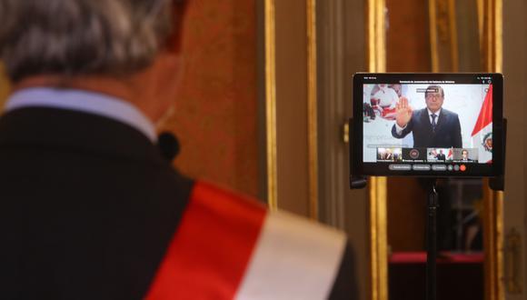Ministro tomó juramento de manera virtual