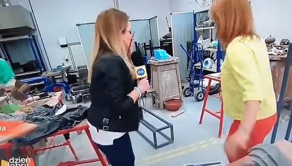 Reportera pasa incómodo momento en plena entrevista en vivo (VIDEO)