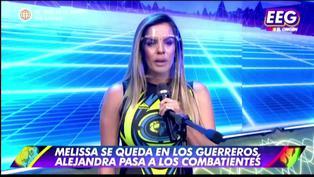 Alejandra Baigorria lloró en vivo por pasar al equipo de 'Los Combatientes'