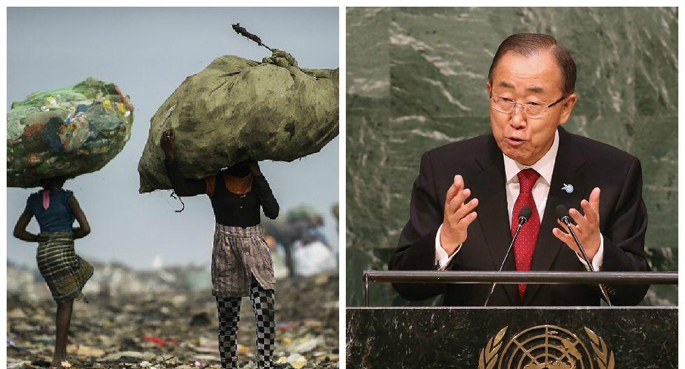 Ban Ki-moon promete eliminar la extrema pobreza del mundo para 2030