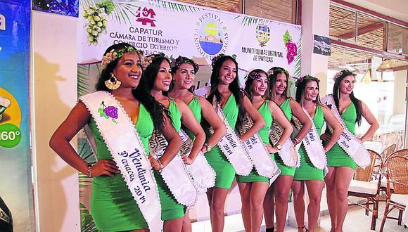 Vendimia de Paracas: ocho jóvenes buscan ser la reina del festival