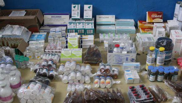 Las autoridades procedieron a incautar los productos farmacéuticos. (Imagen referencial/GEC)