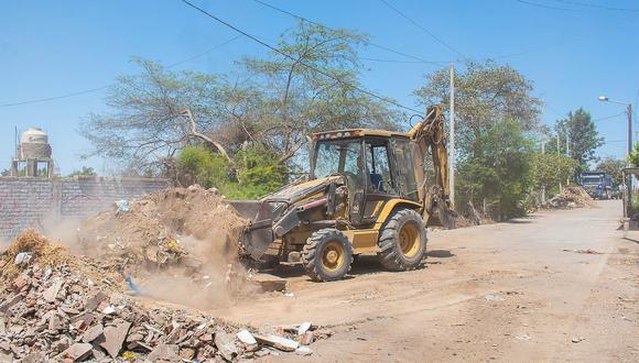 Intensifican trabajos de limpieza en el distrito de Subtanjalla
