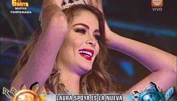 Miss Perú Laura Spoya genera indignación por su ingreso a Esto Es Guerra (VIDEO)