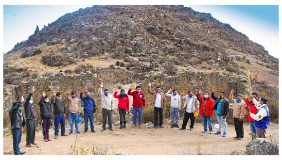 Integrantes toman juramento a las faldas de Ciudadela del Cerro Sulcha, ubicado en el distrito de Carabamba.