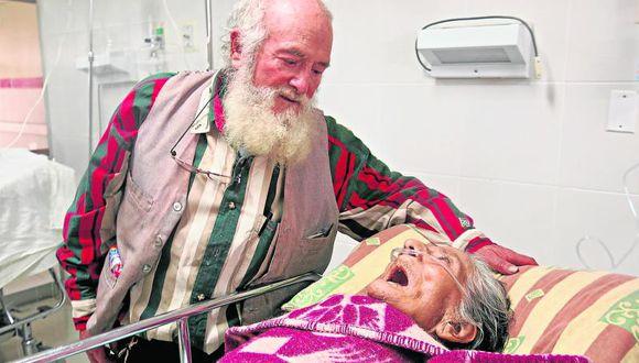 'Papá Noel Huanca' sufre por esposa enferma