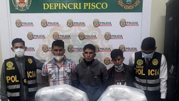Poder Judicial dicta prisión preventiva por transportar marihuana en Pisco
