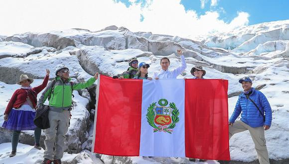 Presidente Vizcarra llegó a nevado Huascarán para expedición científica más grande (FOTOS y VIDEOS)