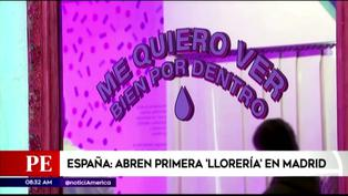 """España: Abren """"Llorería"""" en Madrid para que jóvenes lloren y traten su salud mental (VIDEO)"""