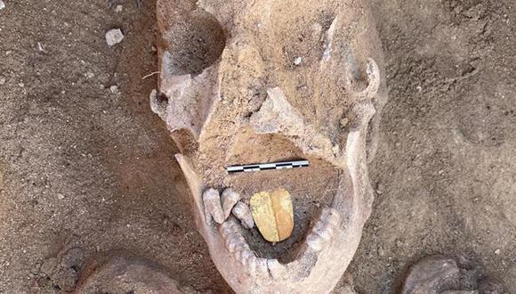 Las lenguas de oro estaban destinadas a garantizar que las personas fallecidas pudieran hablar en la otra vida.. (Foto: Ministerio de Turismo y Antigüedades de Egipto)
