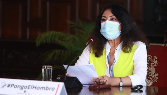 La primera ministra, Violeta Bermúdez, recordó que los protocolos para campañas electorales, continúan vigentes. (Foto: PCM)