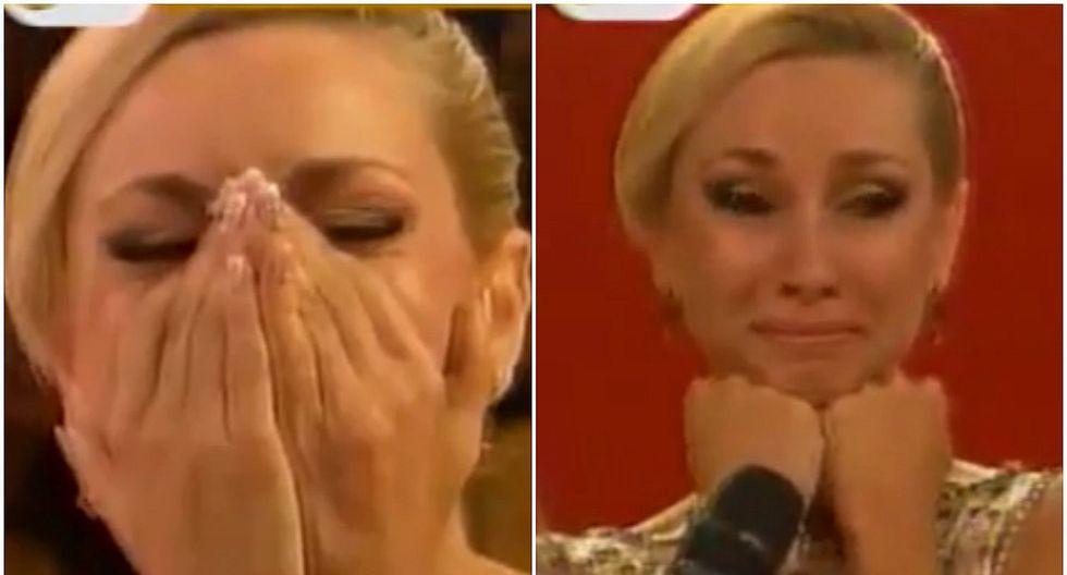 El Gran Show: Belén Estévez rompe en llanto por emotiva sorpresa desde Argentina (VIDEO)