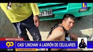 Cajamarquilla: Vecinos atrapan a sujeto acusado de robar celulares y casi lo golpean (VIDEO)