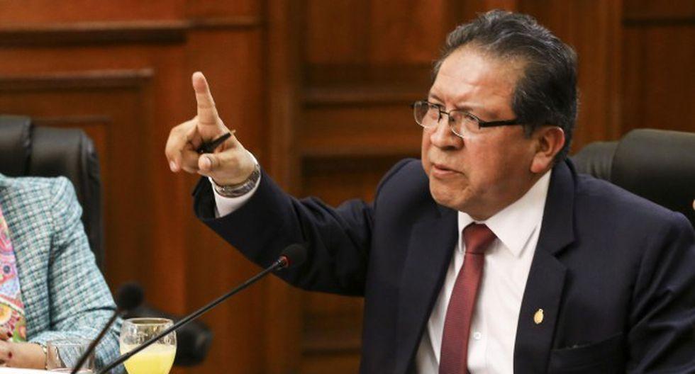 Fiscal supremo Pablo Sánchez también dijo que han tratado de intimidarlo por la investigación que lleva a cabo. (Foto: Congreso de la República)