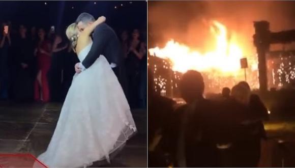 México: romántica boda terminó en un pavoroso incendio (VIDEO)