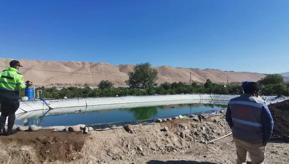 Cuerpo de agricultor demoro en ser retirado del reservorio de agua ante la demora del fiscal para las diligencias