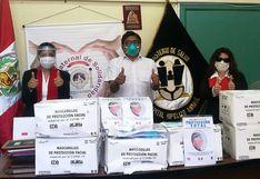 Logia Femenina dona mascarillas y protectores al hospital Unanue
