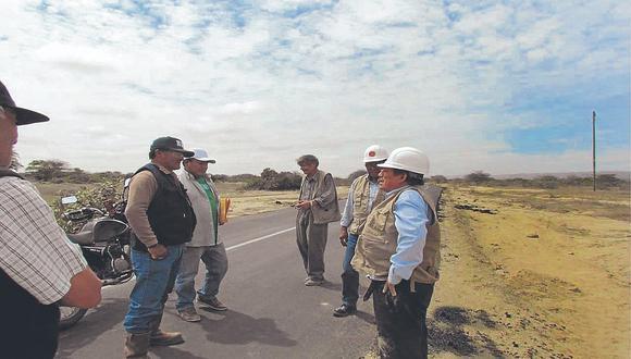Vía a centro Agua Bayóvar podría colapsar ante las lluvias