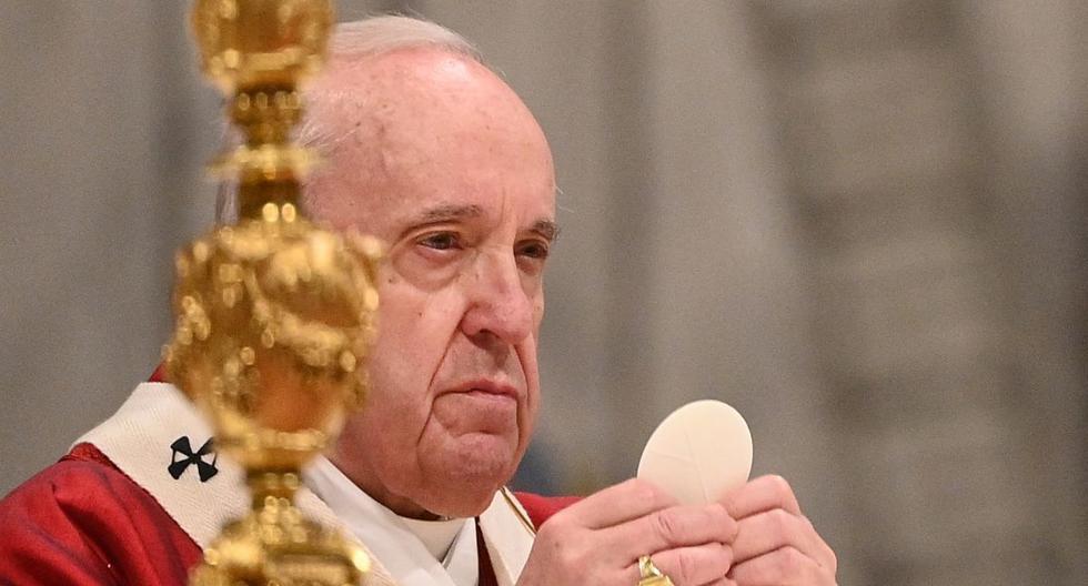 """El pontífice argentino reconoce """"el martirio"""" de María Agustina Rivas López, conocida como """"Aguchita"""", miembro de la Congregación de Nuestra Señora de la Caridad del Buen Pastor, indica un comunicado de la Santa Sede. (Foto: Vincenzo PINTO / AFP)."""