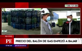 Presidente de SPGL confirma la baja del precio del balón de gas