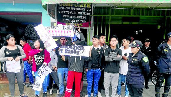 Policía: Sute estaría detrás de protesta de escolares en desfile