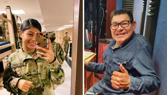 Dilbert Aguilar y su emotivo mensaje a su hija miembro del Ejército de EE.UU. (Fotos: Facebook / Instagram)