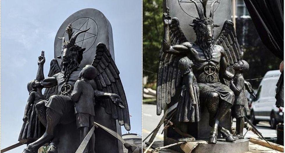Polémica por instalación de enorme estatua satánica en Arkansas (VIDEO y FOTOS)