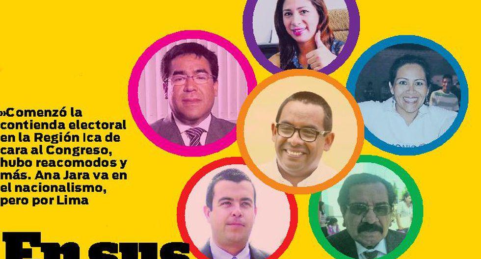 Siete partidos ya tienen candidatos al Congreso por Ica