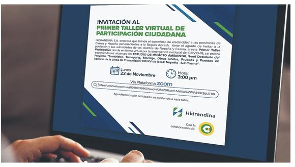Brindarán información sobre el estudio de impacto ambiental realizado para la ejecución de un proyecto eléctrico en Nepeña y Casma.