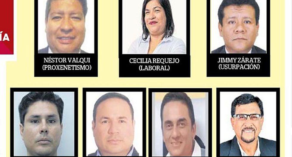 Siete candidatos sentenciados en busca de una curul
