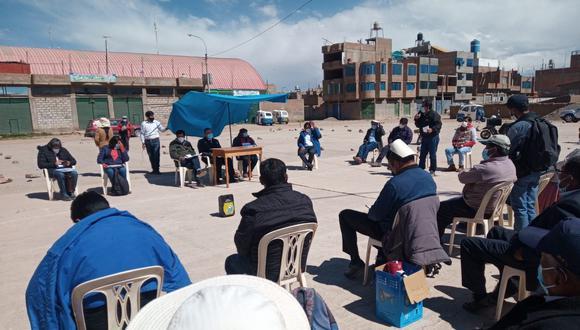 La reunión fue en la plataforma de la urbanización Señor de los Milagros del distrito de San Miguel. (Foto: Difusión)