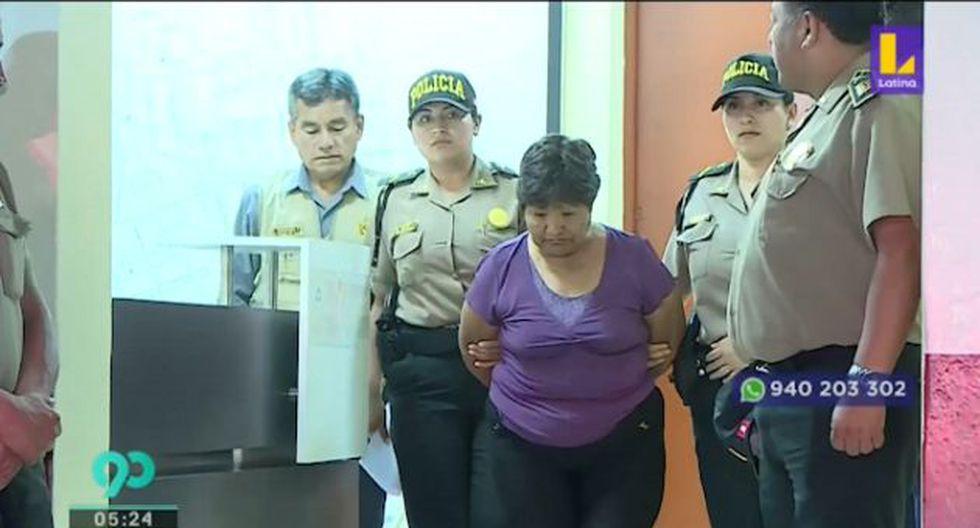 Sabina Choquehuanca registra antecedentes por tráfico de drogas. (Foto captura: Latina)