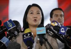 """Keiko Fujimori sobre pedido del fiscal Pérez: """"Hay una clara intención de perturbar los conteos finales"""""""