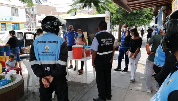 Intervienen a extranjeros durante pollada en vía pública en Callao (Foto difusión)