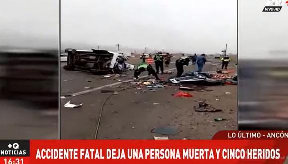 El accidente de tránsito causó congestión vehicular en el sentido de sur a norte de la Panamericana Norte. (Foto: ATV+)