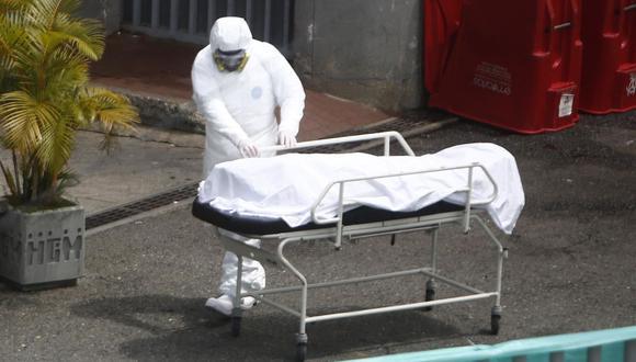 Sobre los 495 fallecimientos reportados en Colombia este sábado 1 de mayo, 430 ocurrieron en días anteriores, según el Ministerio de Salud. (Foto: EFE/ Luis Eduardo Noriega A.).