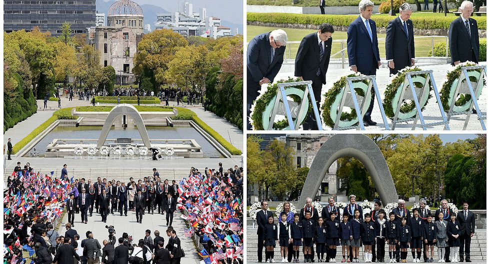 Ministros del G7 pactan en Hiroshima trabajar por un mundo sin armas atómicas